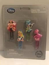 Disney Store Alice in Wonderland Paper Clips Set of 4 Cheshire Cat Mad Hatter