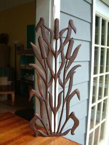 CATTAIL PANEL -  Cast  Iron Wrought Garden Fence Gate