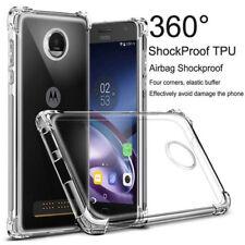 For MOTO M Z G5 G5S Plus Clear Shockproof 360° Matte Bumper Slim TPU Cover Case