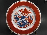 3 Seymour Mann Nara Porcelain Dinner Plates Red and White Set of 3