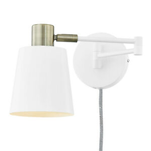 Alexi Plug-In Wall Sconce in White by Light Society