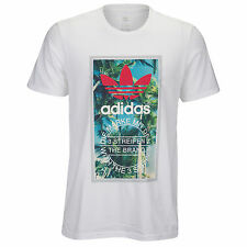 ADIDAS Originals Palmtree Tongue T-Shirt sz 2XL XX-Large White Sky Blue Red