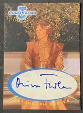 MIRA FURLAN AS DELENN 1999 SKYBOX BABYLON 5 PROFILES AUTOGRAPH CARD AUTO #SA4