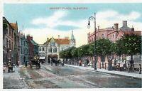 Market Place - SLEAFORD - Lincolnshire - Original Postcard (ETV)