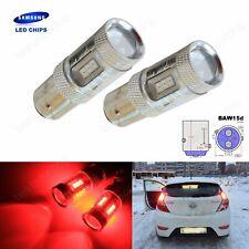 2x BAW15d 567 PR21/5W Bulbs SAMSUNG 15W LED Tail Stop Brake Rear Fog Light Red