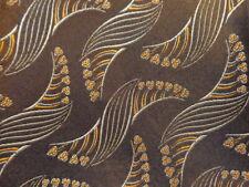 "1920s 1930s Antique Vintage Retro ~Mens Silk Brocade Dress Shirt Tie ~Brown ~46"""
