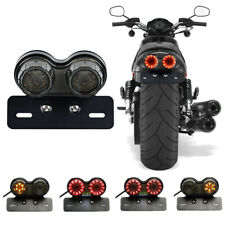 LED Motorbike Rear Tail Brake License Turn Indicator Twin Dual Tail Signal Light
