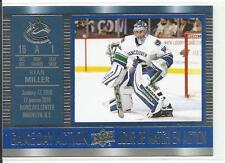 16-17 Ryan Miller Game Day Action Tim Hortons Canada Insert Card #GDA-13 Mint