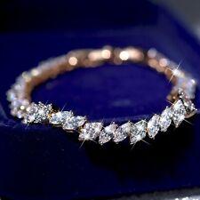 18k gold gf made with Swarovski crystal infinity link chain bracelet accessory