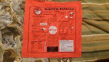 Survival Bandana, Basic survival techniques, from Wa Hunter Ed Instructors Assn