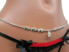 CUTE Elephant Mouse Adjustable Belly Chain Silver sep Circus Chain Adorable