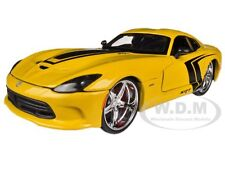 2013 DODGE VIPER GTS SRT YELLOW CUSTOM 1/24 DIECAST MODEL CAR BY MAISTO 31363