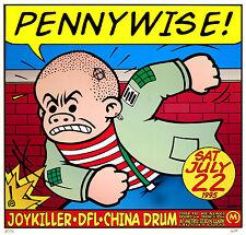 Pennywise Joykiller 1995 Original Concert Poster by Frank Kozik S/N