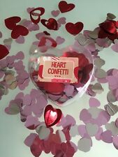 Metallic RED PINK 3D HEART shaped Table Confetti Wedding Anniversary scatter
