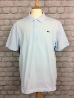 LACOSTE SPORT MENS UK XL SIZE 6 BLUE POLO SHIRT SMART SUMMER HOLIDAY CASUAL