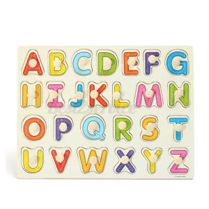 Alphabet ABC Letter Educational Puzzle Wooden Kids  Learning Toy Prek School