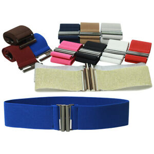 Women Elastic Belt Wide Dress Skrit PantsWaist Belt Stretch Corset Waist Buckle