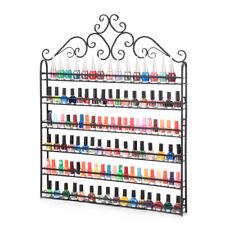 6 TIERS Nail Polish Display Wall Rack Metal Organizer Holder Up To 120 Bottles