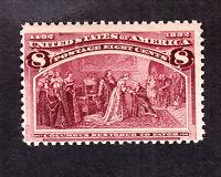 US 236 8c Columbian Mint Fine OG NH SCV $160 (003)