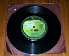 """The Beatles Get Back/Don't Let Me Down"" 45 Record 7"" Single C1969 , Pre-Owned ."