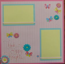 12X12 THINK HAPPY THOUGHTS PREMADE SCRAPBOOK PAGE LAYOUT MSND TONYA