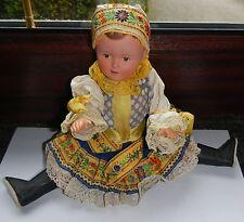Puppe Zelluloid 30 cm gross Zelluloidpuppe Hartplast Originalkleidung TRACHT
