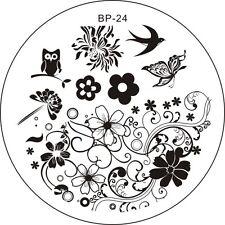 Stamping Schablone Stempel  Blumen Blüten Eule Schmetterling Fullcover  BP-24