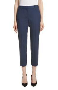 Theory Treeca 2 Good Wool Crop Suit Pants in Blue women's sz 6 x 26 - $275