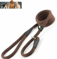 Ancol Timberwolf Machine Washable Deluxe Rope Slip Lead, Chocolate - 1.5m x 12mm