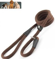 Ancol Timberwolf Machine Washable Deluxe Rope Slip Lead, Chocolate - 1.5m x 12mm