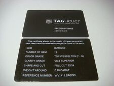 Genuine TAG Heuer watch Certificate Card Precious Stones WV1411.BA0793