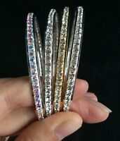 new colors 1Row round Crystal Bracelet Rhinestone Bling Wristband Women 6.5cm