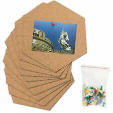 Hexagon Cork Pin Board Self Adhesive Tiles Message School Office Bulletin Memo