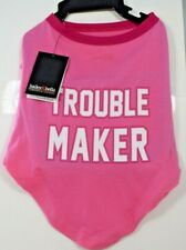 "Bailey & Bella Companion Couture - Pink ""Trouble Maker"" T-Shirt Pet/Dog (S)"