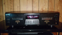 Sony TC-WE475 Stereo Cassette Deck.  {{{REFURBISHED}}}