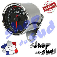 COMPTEUR KM/H Ø 66 MM CHROME RETRO VINTAGE CUSTOM CHOPPER BOBBER CAFE RACER BIKE