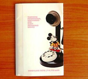 Rare Vintage Disneyland Hotel Telephone Information Notepad 1990s