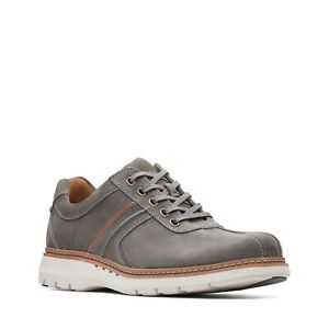 Clarks Men's Un Ramble Go Dark Grey Nubuck Casual Shoes 26136969