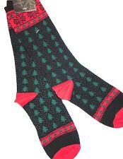 Womens NORDIC ALPINE SOCKS Christmas Trees 9-11 Shoe Size 4-10