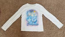 DISNEY STORE - Cinderella Long Sleeve Girl's T-Shirt Castle Sparkle Size M (7/8)
