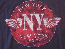NWOT Small (S) NEW YORK N.Y. Winged Logo in Circle S/S T Shirt