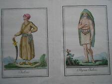 Indus Indous Indien India Indie Inder Labrousse  Altkolorierter Kupferstich1796