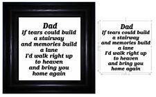 Adesivo Vinile 17 X 17CM se lacrime potrebbe costruire una scala interna-Memoria preventivo per il papà