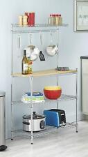 4-Tier Baker's Rack Microwave Oven Stand Shelves Kitchen Storage Rack Organizer