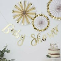 Gold Foil  Bunting Banner baby Shower Party Decor Garland - 1.5m BABY SHOWER