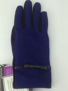 Women's ISOTONER Brand Blue Warm Winter Dress Gloves - size M/L - $52 MSRP