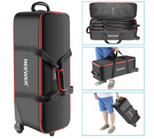 Photo Studio Equipment Trolley Carry Bag Compartment Wheel Light Stand Tripod