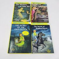 Nancy Drew mystery's 4 Hard Cover Carolyn Keen Flashlight Series 1, 2, 4, 5, 6