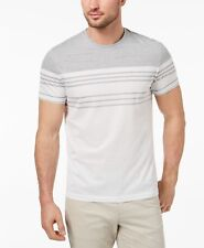 Alfani Men's Engineered Stripe T-Shirt, Created for Macy's -WHITE - SMALL - NEW
