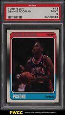 1988 Fleer Basketball Dennis Rodman ROOKIE RC #43 PSA 9 MINT